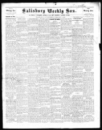 Sample Salisbury Weekly Sun front page