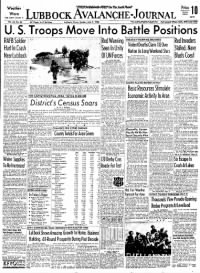 Sample Lubbock Avalanche-Journal front page