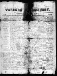 Sample Tarboro' Mercury front page