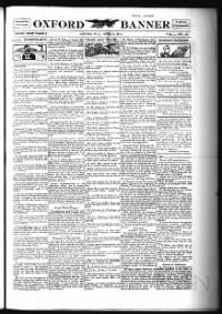 Sample Oxford Banner front page