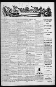 Sample The Tobacco Plant front page