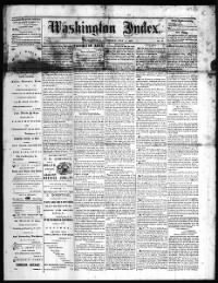 Sample Washington Index front page