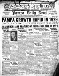 Sample Pampa Daily News front page