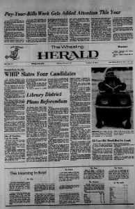 Sample The Wheeling Herald front page