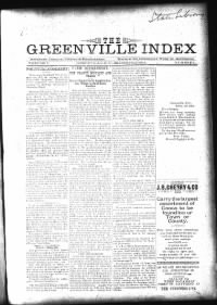 Sample The Greenville Index front page