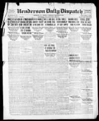 Sample Henderson Daily Dispatch front page