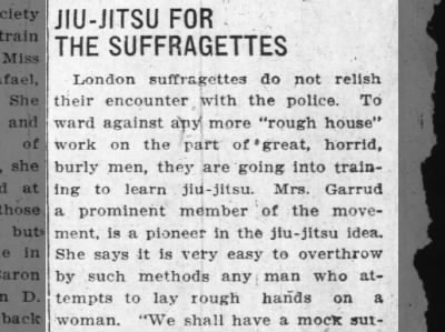 Jiu-Jitsu for the Suffragettes