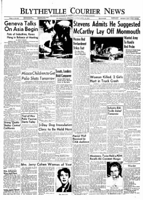 The Courier News from Blytheville, Arkansas on April 26, 1954 · Page 1