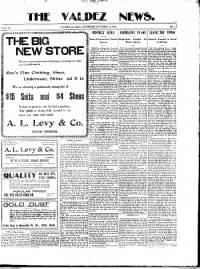 Sample The Valdez News front page