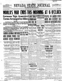 Sample Nevada State Journal front page