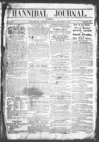 Sample Hannibal Daily Journal front page