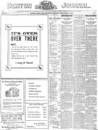 Sample Denton Journal front page