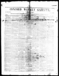 Sample Concord Weekly Gazette front page
