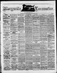 Sample Marysville Locomotive front page