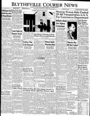 The Courier News from Blytheville, Arkansas on March 7, 1949 · Page 1