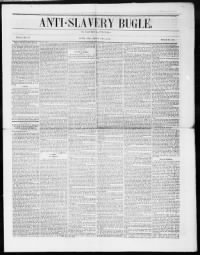 Sample Anti-Slavery Bugle front page