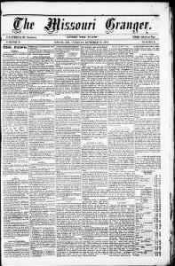 Sample The Missouri Granger front page