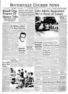 The Courier News from Blytheville, Arkansas on June 8, 1954 · Page 1