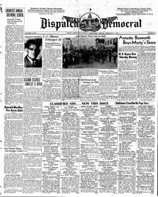 Ukiah Dispatch Democrat from Ukiah, California on February 6, 1948 · Page 1