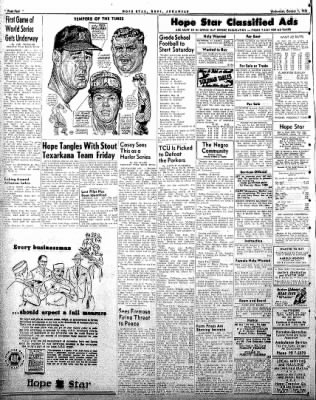 Hope Star from Hope, Arkansas on October 1, 1958 · Page 4