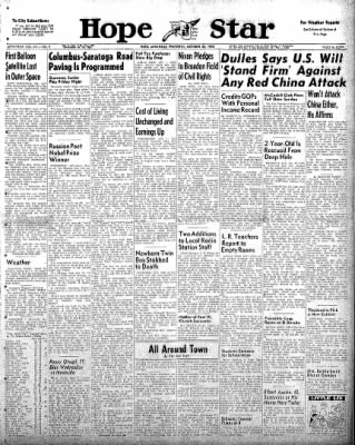 Hope Star from Hope, Arkansas on October 23, 1958 · Page 1