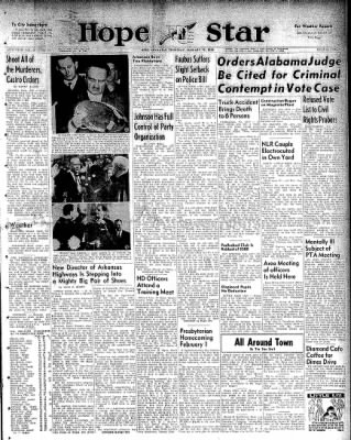 Hope Star from Hope, Arkansas on January 15, 1959 · Page 1