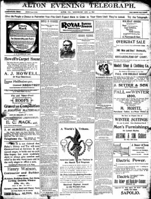 Alton Evening Telegraph from Alton, Illinois on December 14, 1898 · Page 1