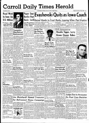 Carrol Daily Times Herald from Carroll, Iowa on October 2, 1959 · Page 1