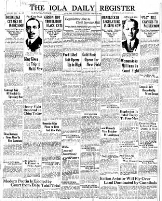 The Iola Register from Iola, Kansas on March 16, 1927 · Page 1