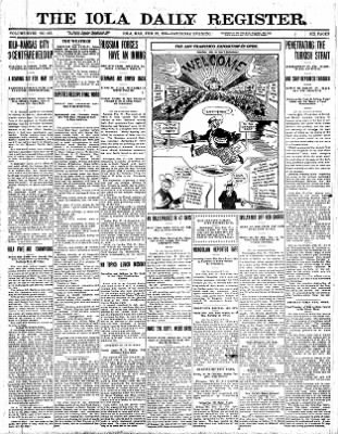 The Iola Register from Iola, Kansas on February 27, 1915 · Page 1