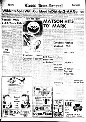 Clovis News-Journal from Clovis, New Mexico on May 9, 1965 · Page 20