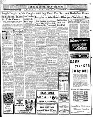 Lubbock Morning Avalanche from Lubbock, Texas on March 7, 1942 · Page 2