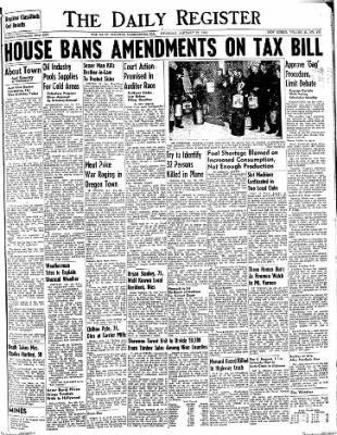 The Daily Register from Harrisburg, Illinois on January 29, 1948 · Page 1