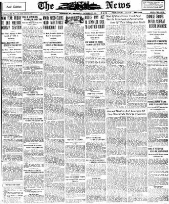The News from Frederick, Maryland on December 30, 1931 · Page 1
