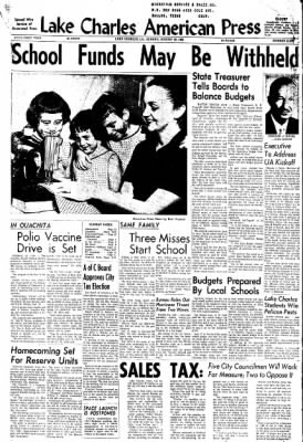 Lake Charles American-Press from Lake Charles, Louisiana on August 26, 1962 · Page 1