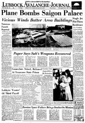 Lubbock Avalanche-Journal from Lubbock, Texas on April 8, 1975 · Page 1