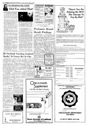 Lubbock Avalanche-Journal from Lubbock, Texas on April 8, 1975 · Page 22