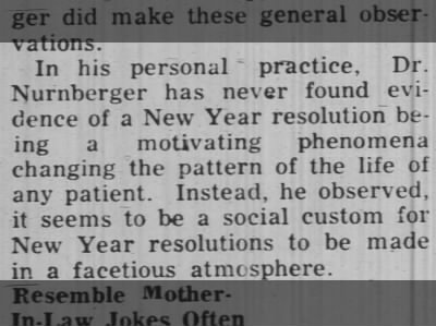 Dr. John Nurnberger has seen little evidence of the effectiveness of resolutions, 1957