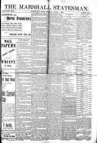 Sample The Marshall Statesman front page