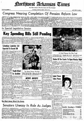Northwest Arkansas Times from Fayetteville, Arkansas on June 30, 1974 · Page 1