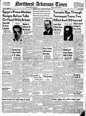 Northwest Arkansas Times from Fayetteville, Arkansas on March 1, 1952 · Page 1