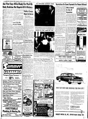 Northwest Arkansas Times from Fayetteville, Arkansas on June 9, 1952 · Page 10