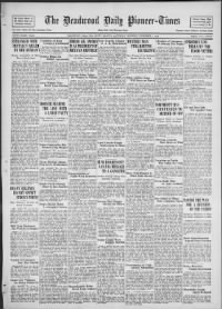 Sample The Daily Deadwood Pioneer-Times front page