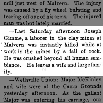 Joseph Gimme - Accident Article