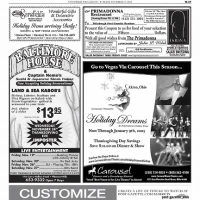 Pittsburgh Post-Gazette from Pittsburgh, Pennsylvania on November 19, 2004 · Page 98